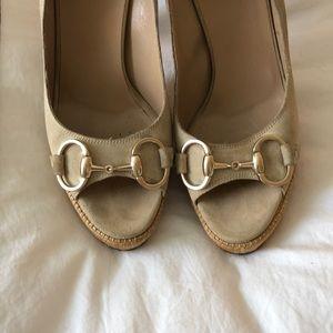 Gucci Shoes - Gucci nude suede pumps 7